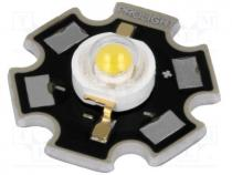 PM2B-3LWS-SD - Power LED, STAR, 3W, white cold, 5000-5650K, 218.9-284.5lm, 130°