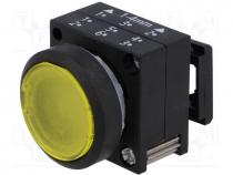 Μπουτόν - Switch  push-button, 1-position, 22mm, yellow, IP65, -25÷70°C