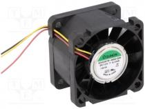 SG40281B1-G99 - Fan  DC, axial, 12VDC, 40x40x28mm, 43.49m3/h, 58.5dBA, ball bearing