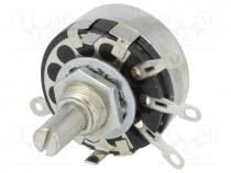 SP1.2-680R-A - Potentiometer  shaft, single turn, 680Ω, 2W, ±20%, soldered, 6mm