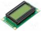 RC0802A-YHY-ESX - Display  LCD, alphanumeric, STN Positive, 8x2, green, LED, PIN 14