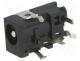 1613-05 - Socket, DC supply, male, 4/1,7mm, 4mm, 1.7mm, with on/off switch