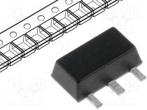 L78L33ABU - Voltage stabiliser, fixed, 3.3V, 0.1A, SOT89, SMD, Package  tape