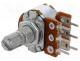R16148-1B-2-A22K - Potentiometer  shaft, single turn, 22kΩ, 63mW, ±20%, THT, 6mm, metal