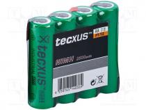 Re-battery  Ni-MH, AA, 1.2V, 2500mAh, Leads  soldering lugs