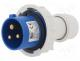 PB.1922 - Connector  AC supply, plug, male, for cable, 16A, 400VAC, IP67