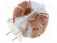 EMC Filter - Inductor  wire, THT, 0.6mH, 8A, 15mΩ, -25÷120°C, 250V
