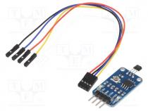 WSH-9522 - Sensor  Hall, IC 49E, LM393, Interface  analog, digital, 2.3÷5.3V