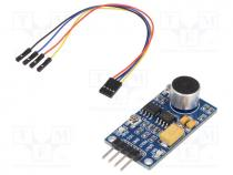WSH-9534 - Sensor  sound, IC  LM386, Interface  analog, Range 50÷20kHz