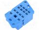 Βάση ρελέ - Socket, PIN 14, 10A, 250VAC, Mounting  on panel, -40÷70°C
