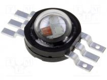PM6B-3LFE - Power LED, EMITER, Pmax 3W, RGB, 130°, 36-42lm, 70-82lm, 15-18lm