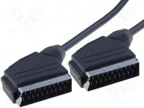 SCART-03/030 - Cable, SCART plug, both sides, 3m, black