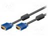 Vga cable - Cable, D-Sub 15pin HD plug, both sides, 5m, Colour  black