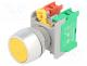 Μπουτόν - Switch  push-button, 1-position, NC + NO, 3A/230VAC, 22mm, yellow