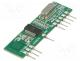 RCRX3-434 - Module  RF, AM receiver, ASK, OOK, 433.92MHz, -108dBm, 2.2÷5.2VDC