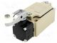 Limit switch, lever R 31,5mm, plastic roller Ø17,5mm, NO + NC