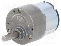 Μοτέρ με μειωτήρα - Motor  DC, with gearbox, 3÷12VDC, 500mA, Shaft  D spring, 10rpm