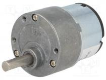 Μοτέρ με μειωτήρα - Motor  DC, with gearbox, 3÷12VDC, 500mA, Shaft  D spring, 20rpm