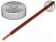 Wire, stranded, Cu, 1x0,14mm2, PVC, brown, 60V, -10÷85°C, 10m