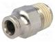 Metal connector, straight, BSP 1/4""