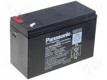 ACCU-HP7-12/P - Rechargeable acid cell 12V 7,2Ah 151x65x94 Panasonic