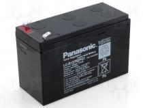 ACCU-HP7-12/P2 - Rechargeable acid cell 12V 7,2Ah 151x65x94 Panasonic