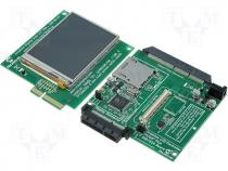 AC164127-3 - Adapter Graphics PICtail Plus Board with 3.2 TFT LCD