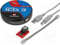 MPLAB-ICD3 - Programmer  microcontrollers, USB