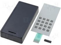 Enclosure with keyboard STD44-08.2 170x85x35mm