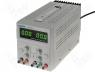 MPS-3005D - Power supply 0-30V/5A, 5V with function stnd-by