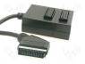 SCART-26-SND - Cable, plug SCART 21pin-2x socket SCART 21pin, 0,4m