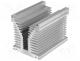 RAD-A6405A/180 - Heatsink  extruded, Y, L 180mm, W 126mm, H 136mm, aluminium, plain