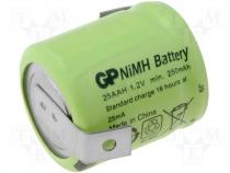 ACCU-250/2P - echargeable cell Ni-MH 1,2V 250mAh 1/3AA blades