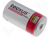 ACCU-R20/10AHHT - Rechargeable cell Ni-MH 1,2V 10000mAh R20 D Tecxus