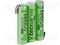 ACCU-R3/3P-TX - Rechargeable cell Ni-MH 3,6V 800mAh 3xAAA Ready to use