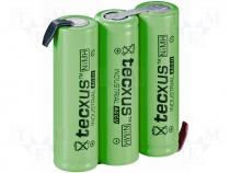 ACCU-R6/3P-TX - Rechargeable cell Ni-MH 3,6V 2100mAh 3xAA Ready to use