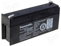 Rechargeable acid cell 6V 3,4Ah 134x34x60 Panasonic