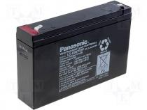 ACCU-HP7-6/P - Rechargeable acid cell 6V 7,2Ah 151x50x94 Panasonic