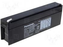 Rechargeable acid cell 12V 2,2Ah 177x34x60 Panasonic