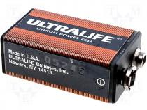 BAT-6F22-UL - Lithium battery 9V 1200mAh 6F22 long life