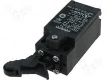 D4N-4172 - Limit switch 1NC/1NO, lever and roller