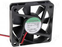 KD1206PHB1 - Fan 60x60x15; ball bearing; DC12V; 33,98m3/h; 35dBA
