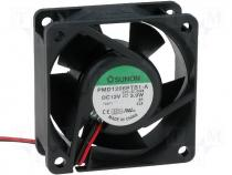 PMD1206PTB1A - Fan 60x60x25 ball bearing DC12V 66,26m3/h 48,0dBA