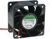 PMD1206PMB3A - Fan 60x60x38 ball bearing DC12V 70,51m3/h 47,0dBA