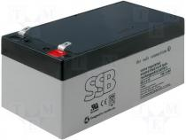 Rechargeable acid cell 12V 3,4Ah 134x67x60mm