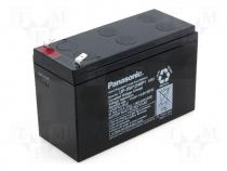 Rechargeable acid cell 12V 9,0Ah 151x64x94 Panasonic