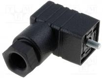 Connector  valve connector, plug, form C, 9.4mm, female, PIN 4