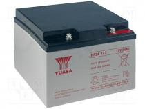 Re-battery  acid-lead, 12V, 24Ah, Storage time 3-5 years
