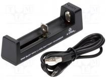 Charger  for rechargeable batteries, Li-Ion, 0.5A