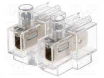 Terminal block, ways 2, 0.75÷4mm2, screw terminal, 16A, 400V